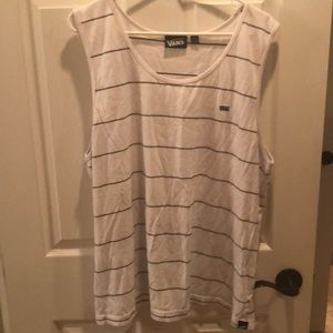 0dfca77f15 White Vans tank top (Men s)